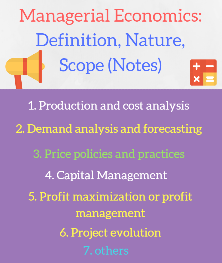 Managerial Economics Definition Nature and Scope