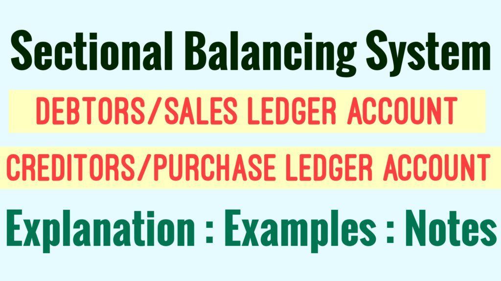 Sectional Balancing System with Examples