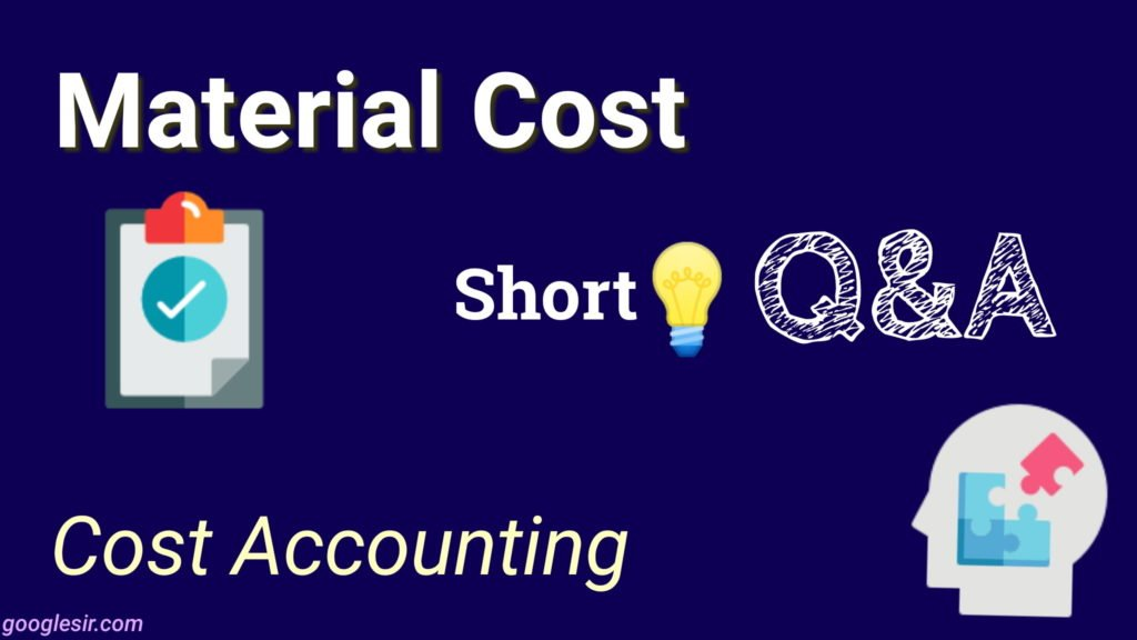 material costing problems with solutions