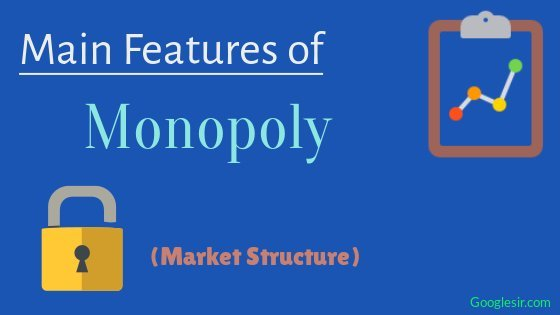 features of monopoly market structure