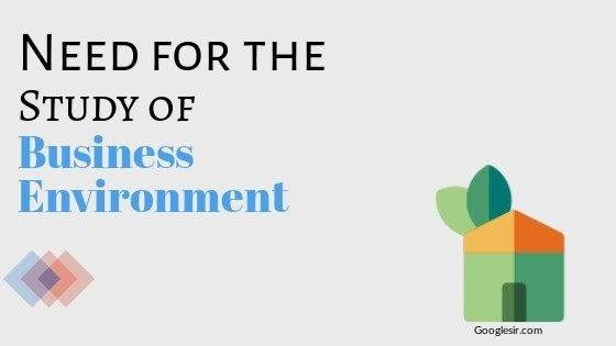 importance of study of business environment