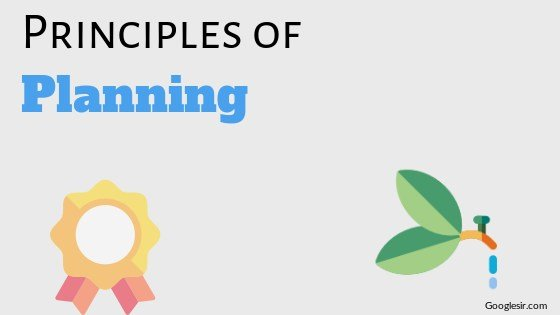 principles of planning in management