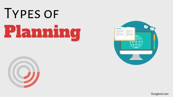 types of planning in business management