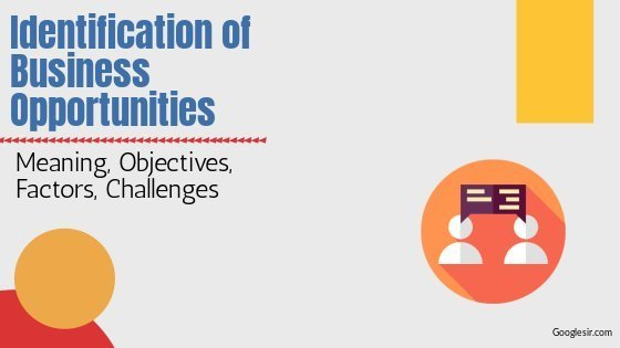 Identification of Business Opportunities: Objectives, Challenges, Factors
