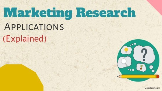 What are the applications of marketing research?