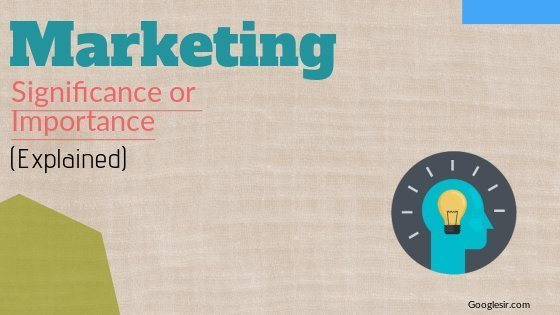 role and importance of marketing in developing economy