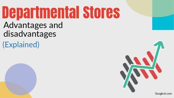 advantages and disadvantages of departmental stores