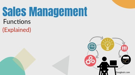 functions of sales management