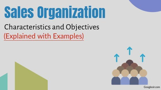 Characteristics and Objectives of Sales Organization