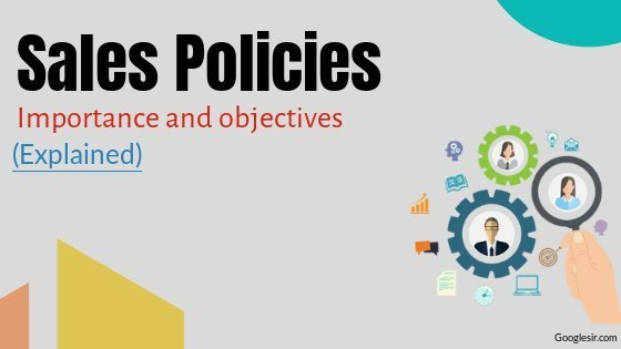 importance of sales policies
