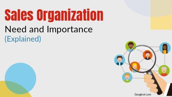 need and importance of sales organization