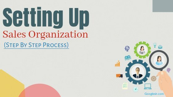 steps in setting up sales organization