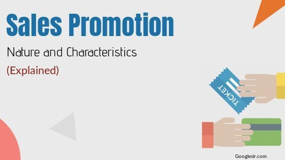 role and nature of sales promotion