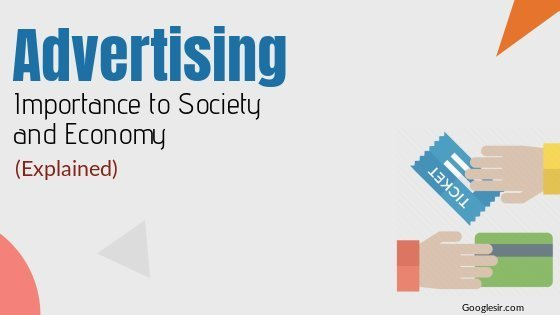 importance of advertising to society and economy