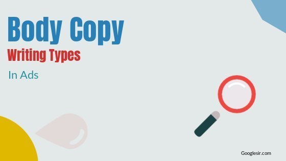 types of body copy in advertising