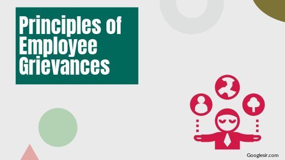 principles of handling employee grievances